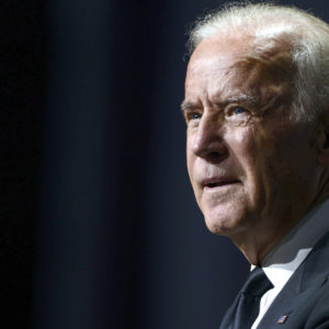 WASHINGTON, DC - OCTOBER 03:  Vice President Joe Biden speaks during the 19th Annual HRC National Dinner at Walter E. Washington Convention Center on October 3, 2015 in Washington, DC.  (Photo by Leigh Vogel/Getty Images)