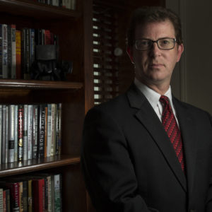 UNSPECIFIED - JULY 20: National security lawyer Mark Zaid is photographed at his home in the metro Washington, DC area, on Wednesday, July 20, 2016. The infamous hijacking case with D.B. Cooper, the subject of a History Channel documentary, which aired recently, has put the limelight on Robert Rackstraw, an alleged suspect with whom Zaid negotiated to turn himself in. (Photo by Nikki Kahn/The Washington Post)