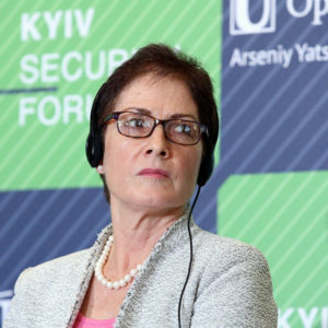 Ambassador Extraordinary and Plenipotentiary of the United States of America to Ukraine Marie Yovanovitch partakes in the Kyiv Security Forum Discussions: What to Expect from the 2018 NATO Summit, Kyiv, capital of Ukraine, July 10, 2018. Ukrinform.