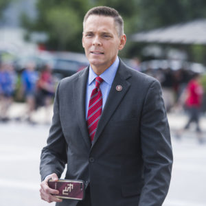 UNITED STATES - MAY 23: Rep. Ross Spano, R-Fla., makes his way to the Capitol for the last votes of the week on Thursday, May 23, 2019. (Photo By Tom Williams/CQ Roll Call)