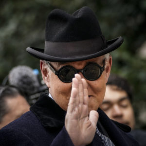 WASHINGTON, DC - FEBRUARY 20: Roger Stone, former adviser to U.S. President Donald Trump, arrives at E. Barrett Prettyman United States Courthouse on February 20, 2020 in Washington, DC. Stone will be sentenced Thursday morning on his convictions for witness tampering and lying to Congress. (Photo by Drew Angerer/Getty Images)