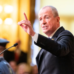 TRENTON, NJ, UNITED STATES - 2019/01/15: New Jersey Governor Phil Murphy delivering the 2019 New Jersey State of the State address in the Assembly Chambers at the New Jersey State House in Trenton. (Photo by Michael Brochstein/SOPA Images/LightRocket via Getty Images)