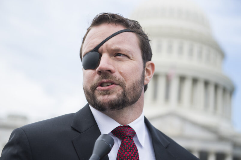 UNITED STATES - NOVEMBER 14: Rep.-elect Dan Crenshaw, R-Texas, is seen after the freshman class photo on the East Front of the Capitol on November 13, 2018. (Photo By Tom Williams/CQ Roll Call)