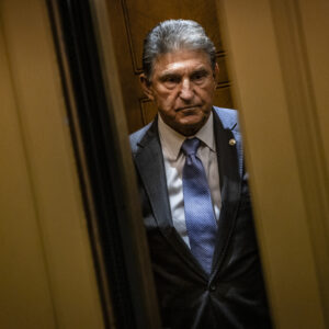 WASHINGTON, DC - JUNE 08: Senator Joe Manchin (D-WV) heads to a vote in the Senate at the U.S. Capitol on June 8, 2021 in Washington, DC. The spotlight on Sen. Manchin grew even brighter after declaring that he will vote against the Democrats voting rights bill, the For the People Act, in his op-ed that was published in the Charleston Gazette-Mail over the weekend. (Photo by Samuel Corum/Getty Images)