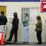AUSTIN, TX -  FEBRUARY  19:  Early voting began today across Texas ahead of the presidential primaries taking place on Tuesday, March 4, 2008. (Photo by Ben Sklar/Getty Images)
